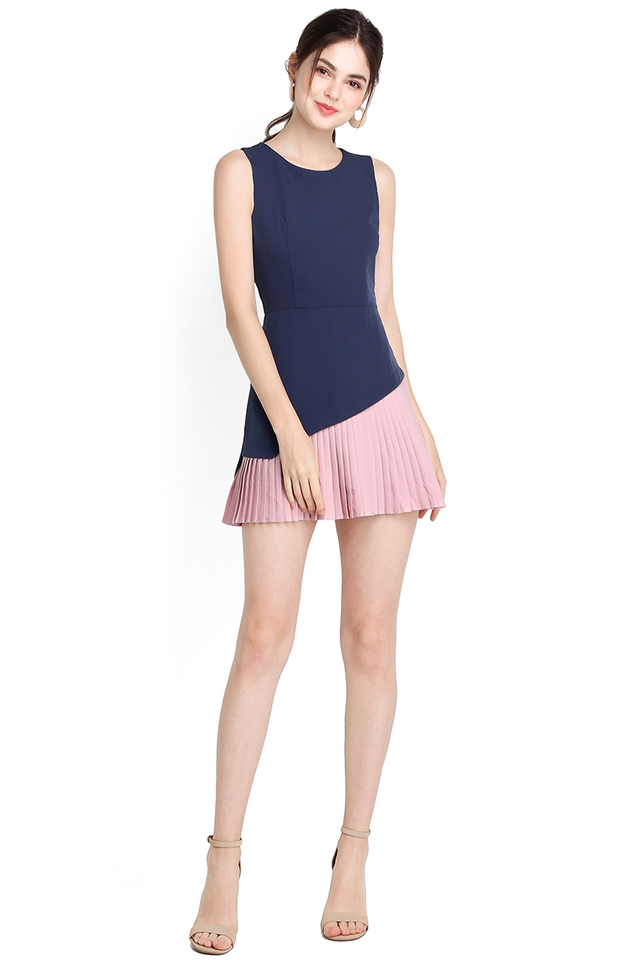 Spectrum Of Shades Romper In Blue Pink