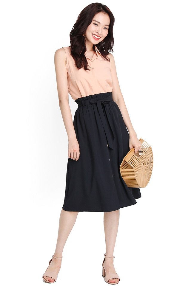 Everyday Style Skirt In Midnight Blue