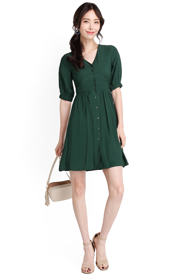 Amazon Adventure Dress In Forest Green