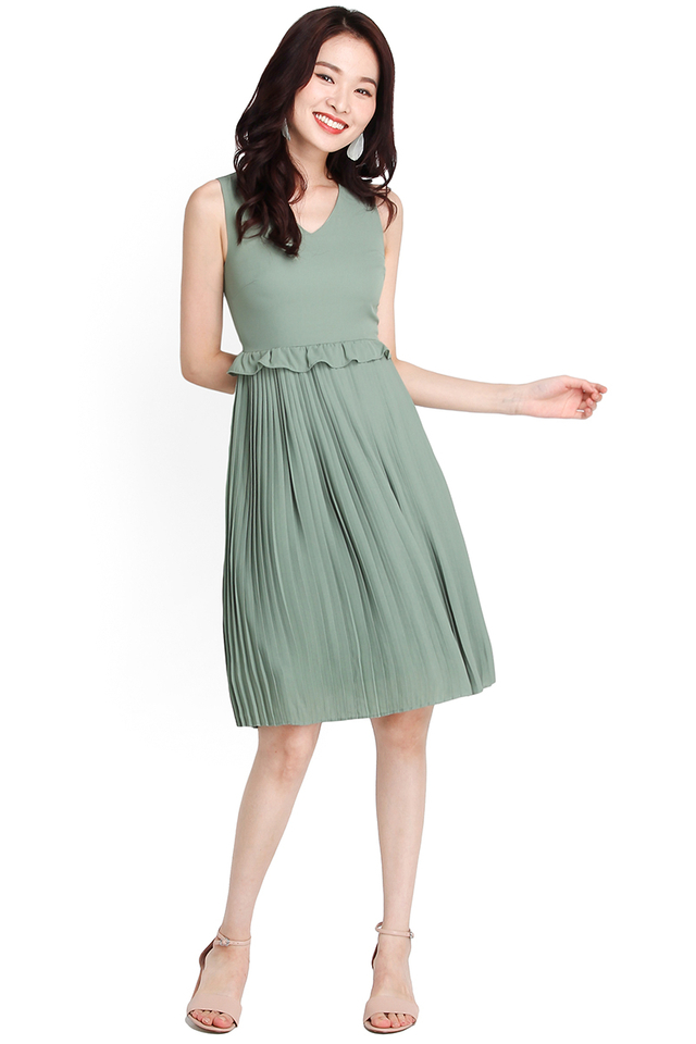 Vision Of Bliss Dress In Sage Green