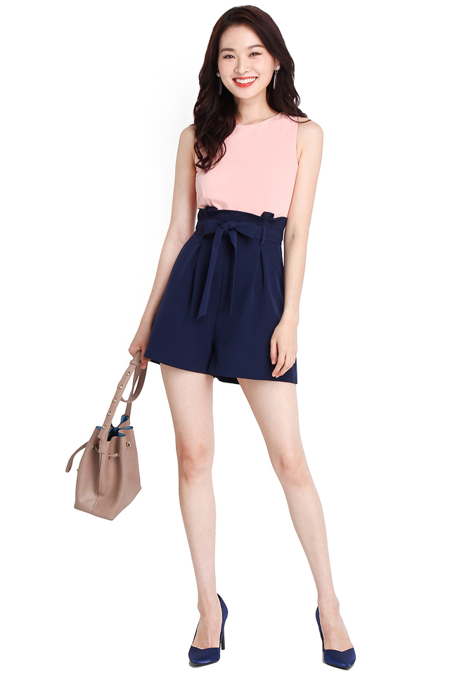 Seasons To Come Romper In Pink Blue