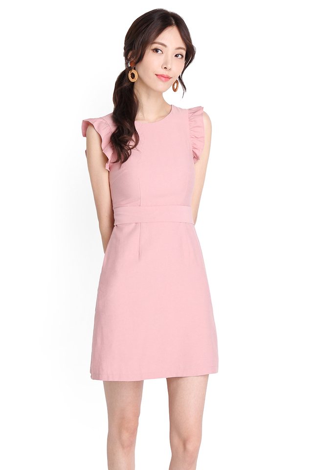 Affable Character Dress In Pea Pink