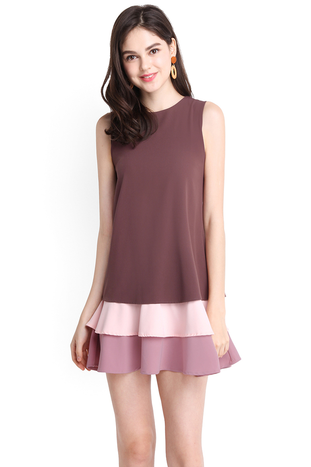 Wave Hello Dress In Rum Pink
