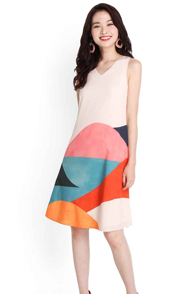 Rainbow Of Love Dress In Sunset