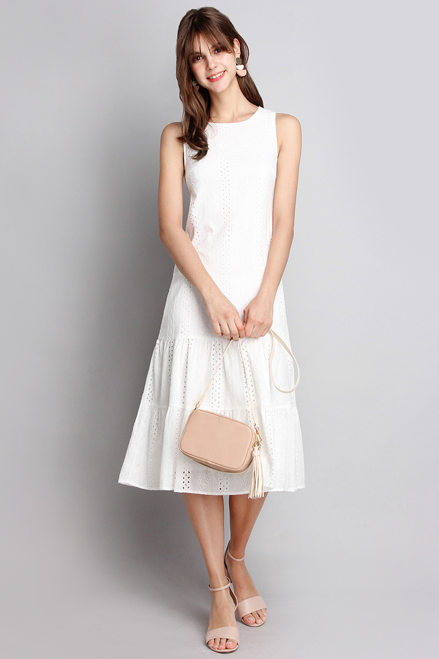 Dreamy Delight Dress In Classic White