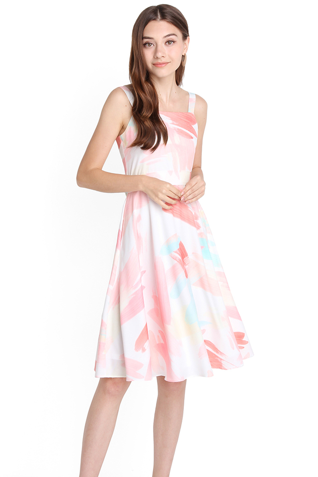 [BO] Pastel Daydreams Dress In Pink Prints