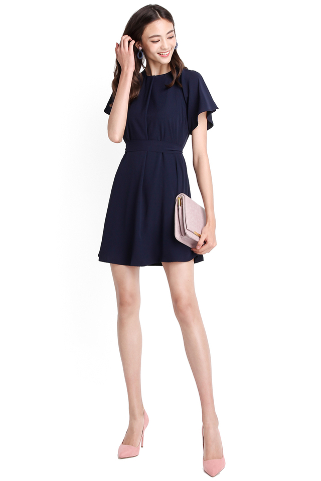 Youthful Philosophy Dress In Navy Blue