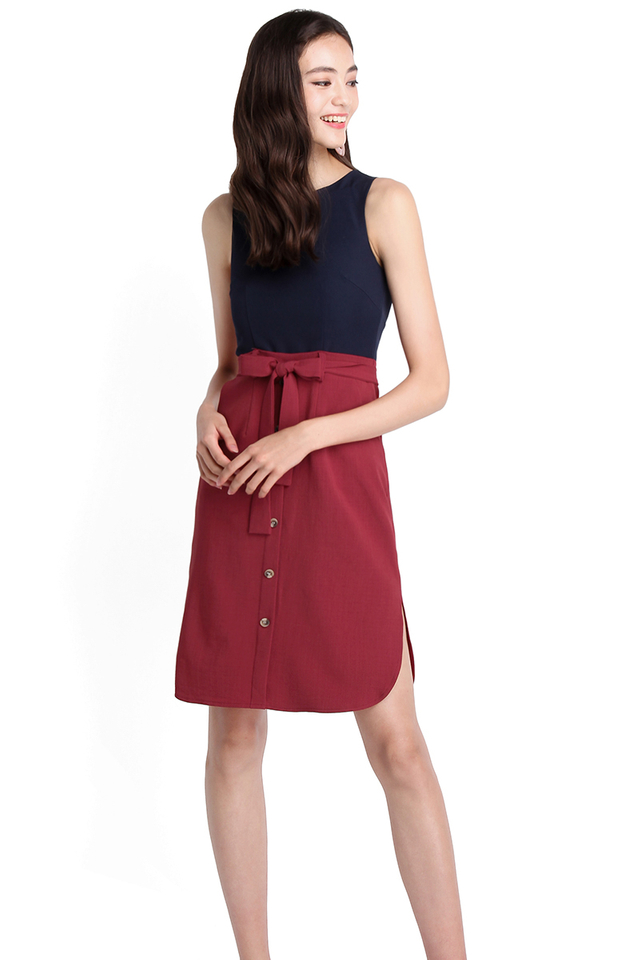 Good Things Come In Pairs Dress In Blue Wine