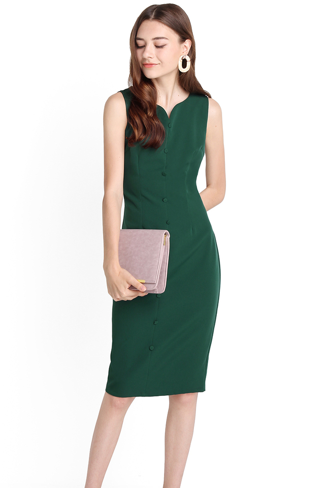 Glamorous Appeal Dress In Forest Green