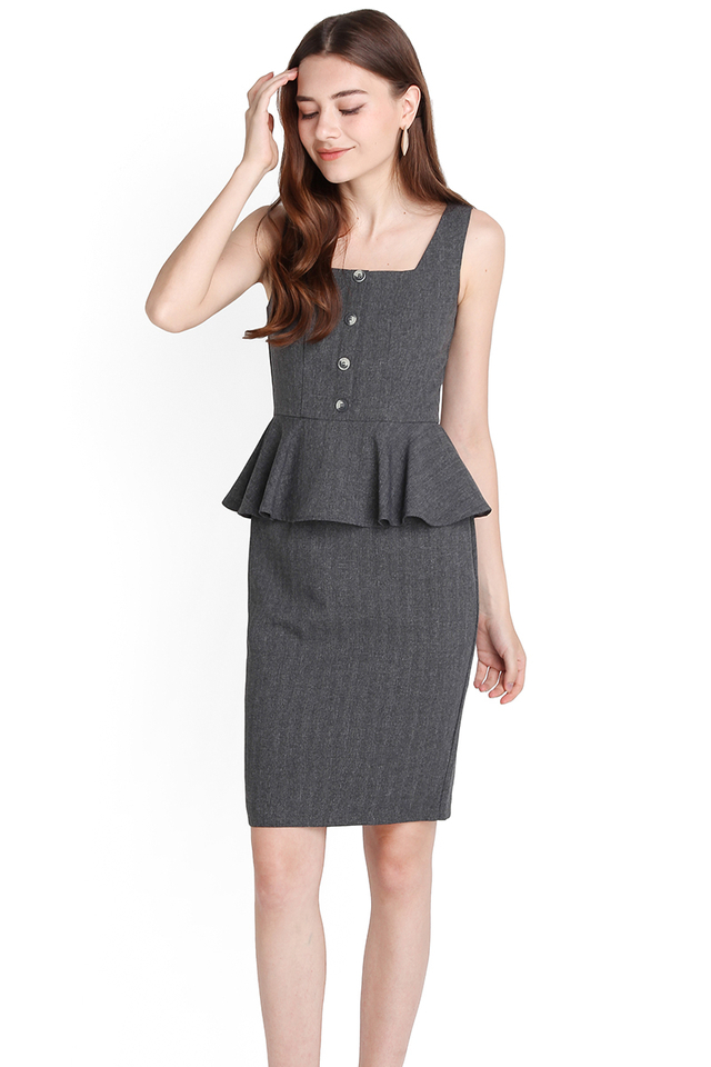 Top Notch Dress In Heather Grey