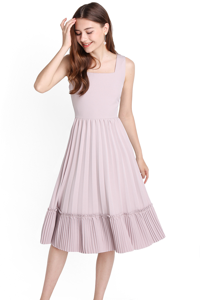 [BO] Love Confession Dress In Dusty Lilac