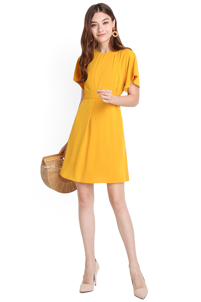 Youthful Philosophy Dress In Honey Mustard