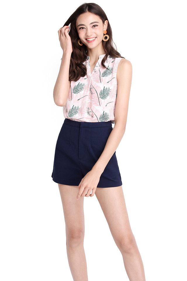 In Tune With Nature Top In Pink Prints