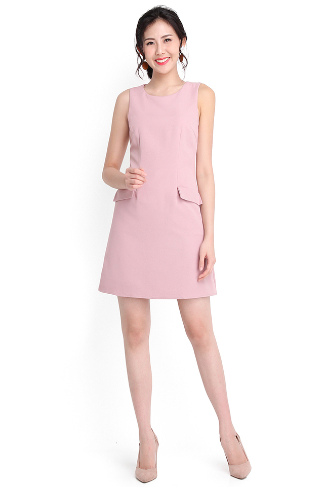 Better Together Dress In Dusty Pink
