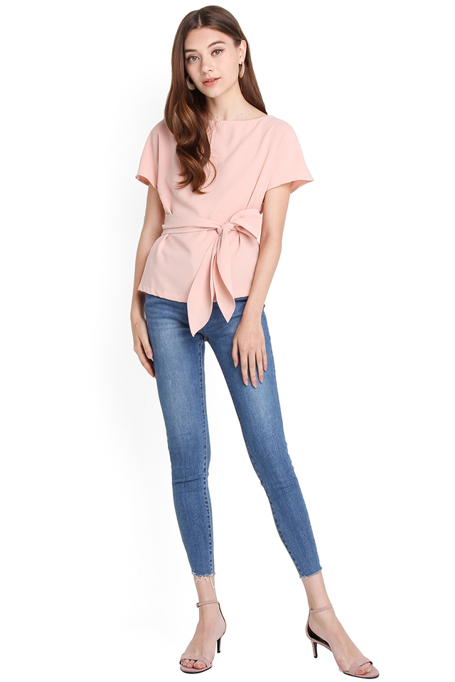 Weekday Simplicity Top In Dusty Pink