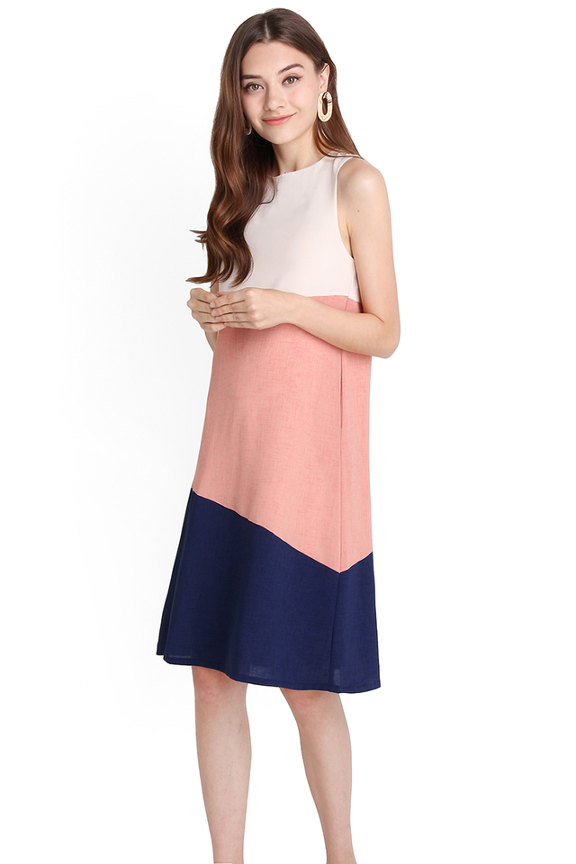 Sunny Disposition Dress In Rose Blue