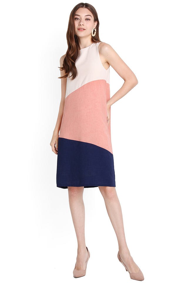 [BO] Sunny Disposition Dress In Rose Blue