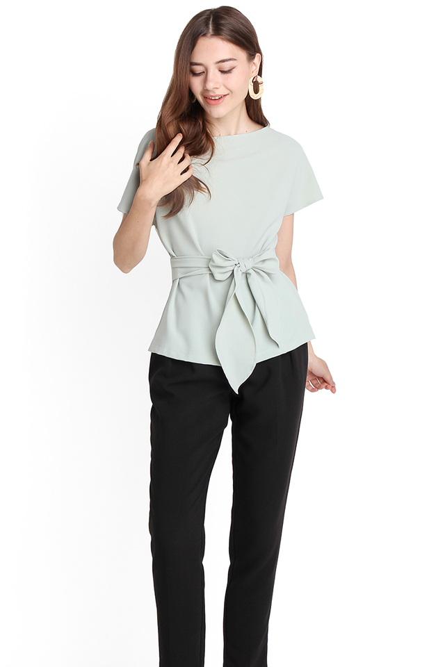 Weekday Simplicity Top In Jade