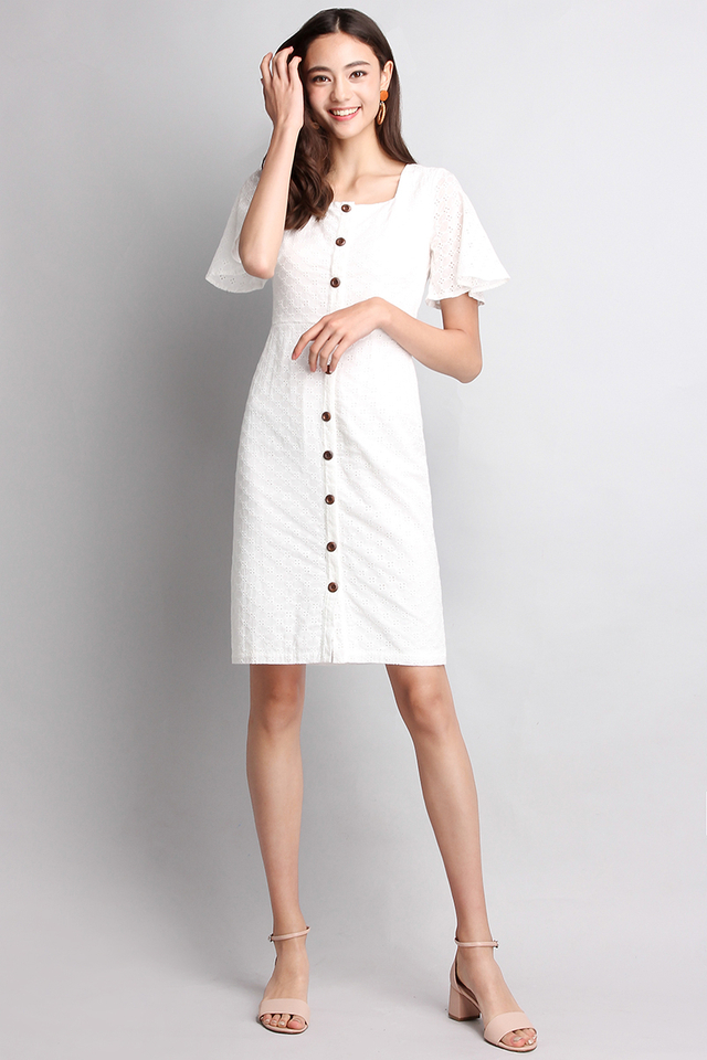 Dreamy Damsel Dress In Classic White