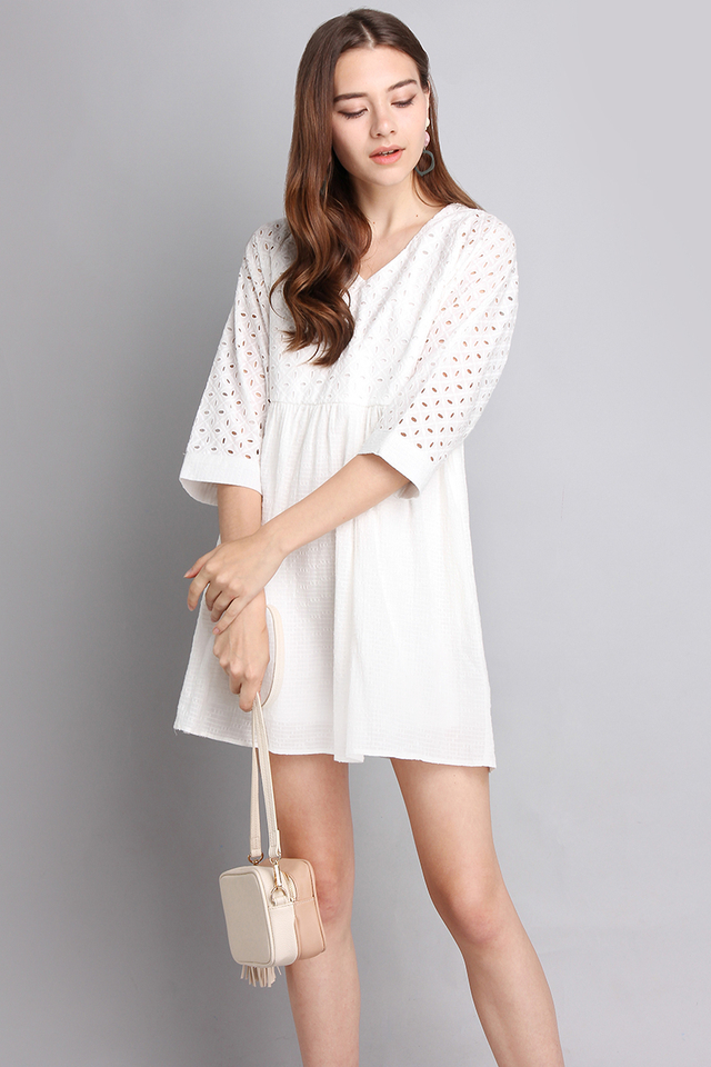 Dainty Charms Dress In Classic White