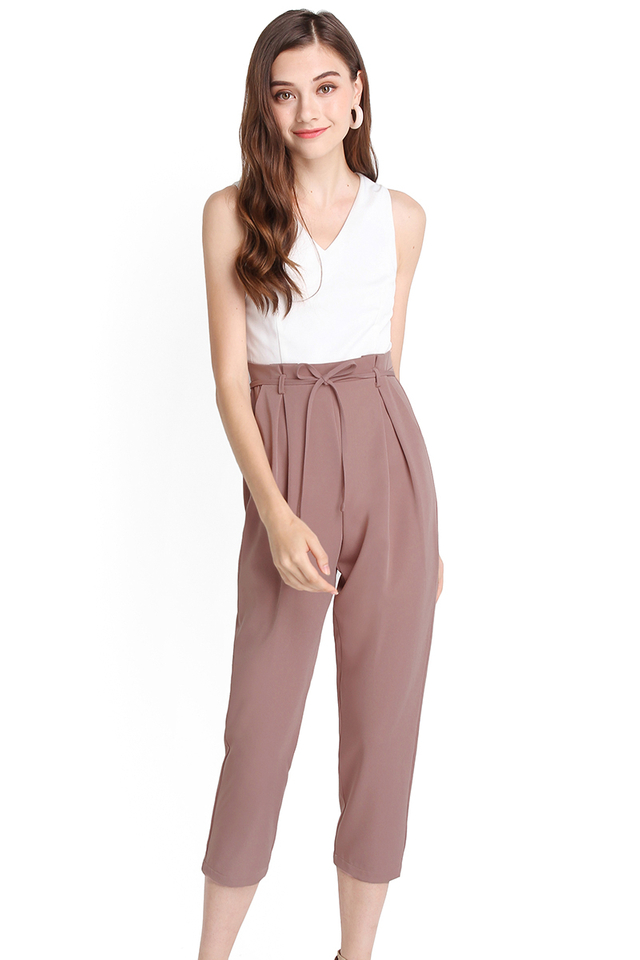 Polished Influence Romper In White Pink