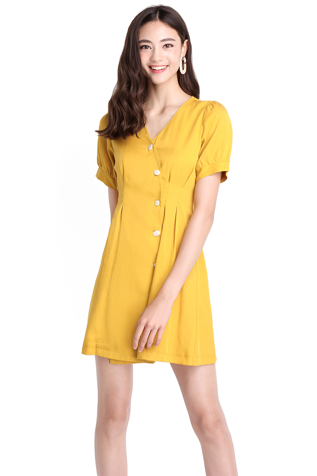 Hamilton Sunrise Dress In Honey Mustard