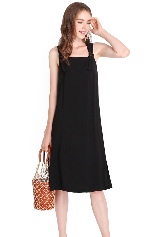 Big Girls Don't Cry Dress In Classic Black