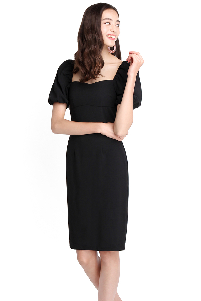Get Down To Business Dress In Classic Black