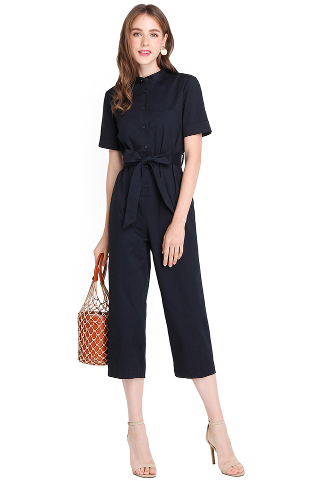 [BO] Safari Trip Romper In Navy Blue