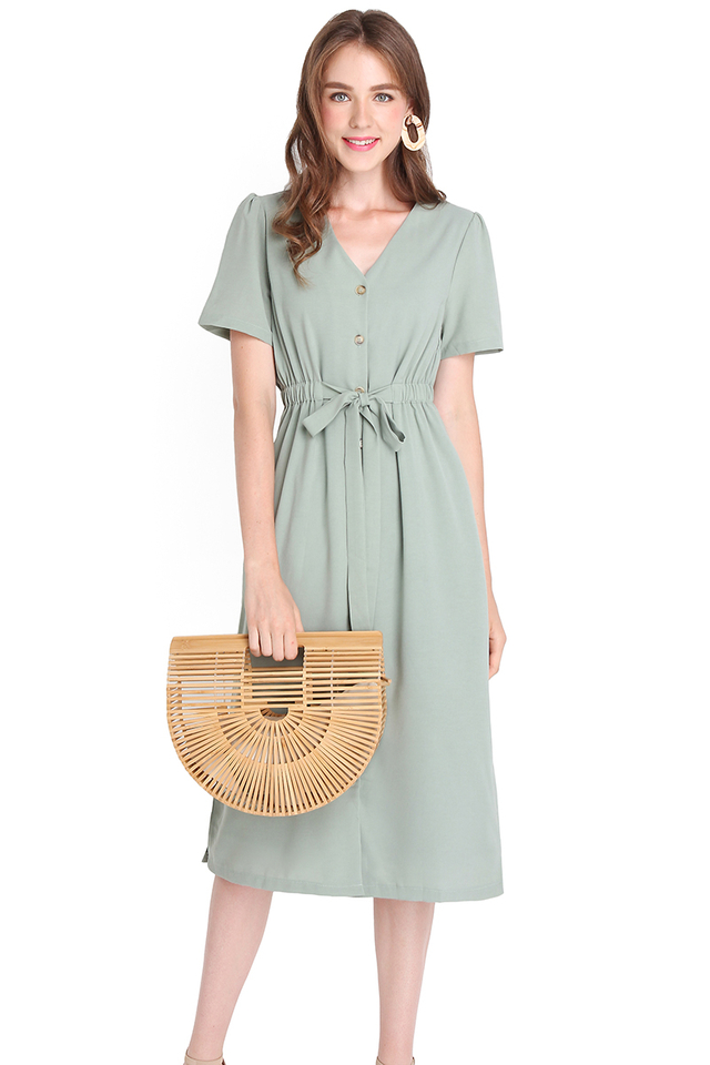 Close To You Dress In Sage Green