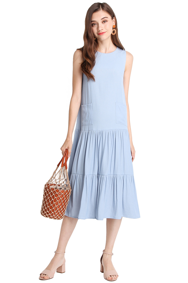 Charming Enthusiast Dress In Light Wash