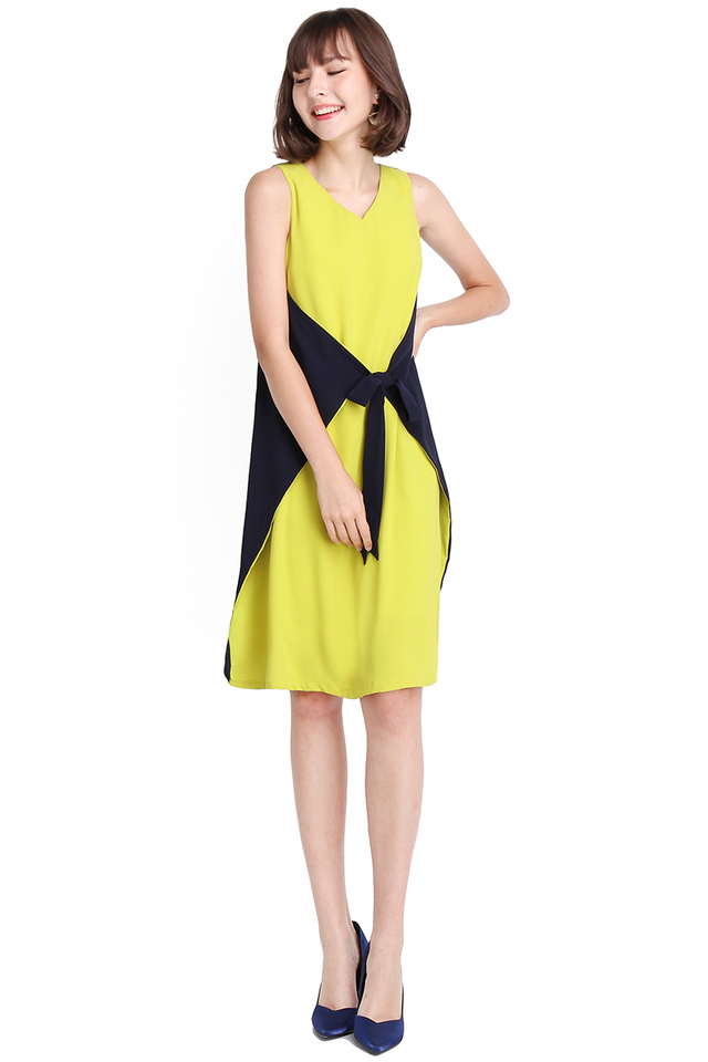 Day And Night Dress In Lime Blue