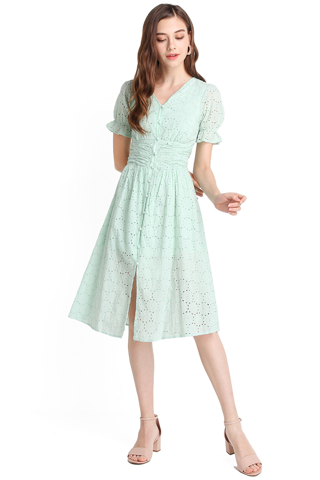 Whitehaven Beach Dress In Mint