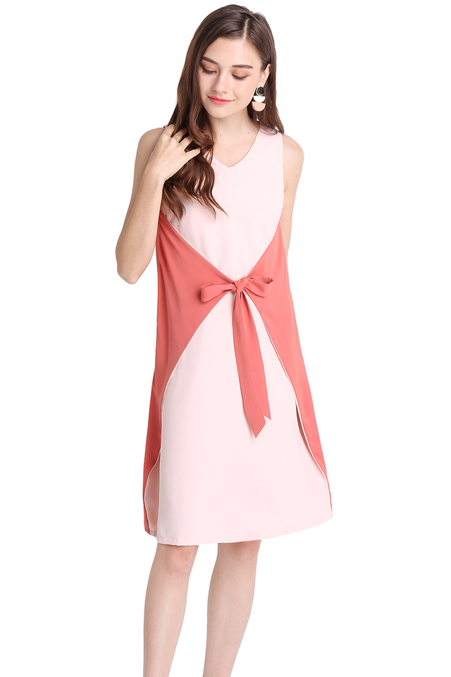 Day And Night Dress In Pink Rose