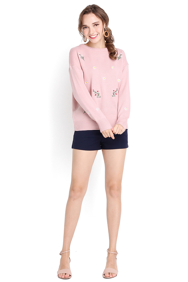 Childhood Sweetheart Pullover In Pink
