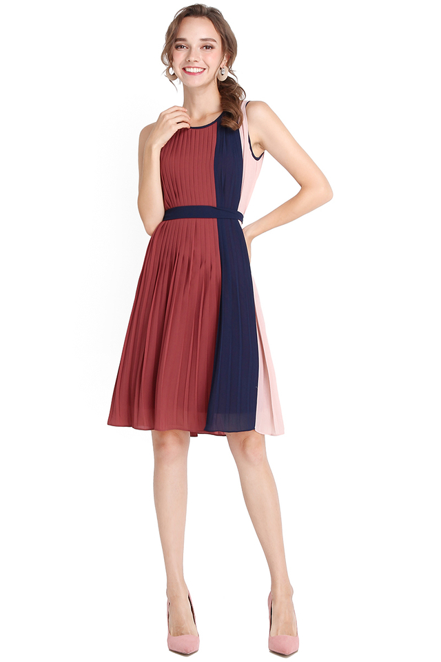 Bold Notions Dress In Rose Blue