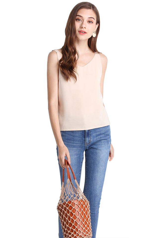 Neutral Party Top In Soft Cream
