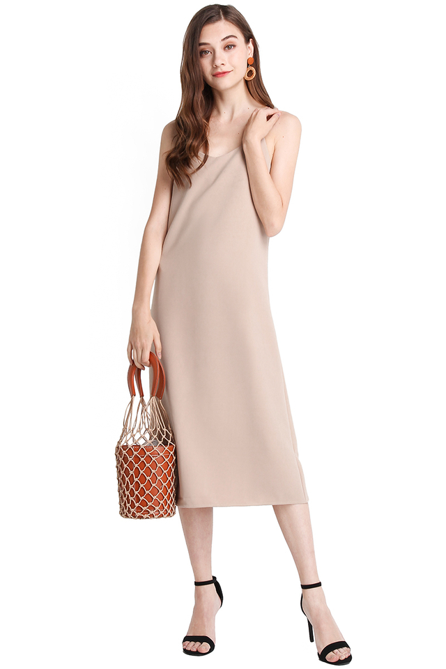 Summer Utility Dress In Sand