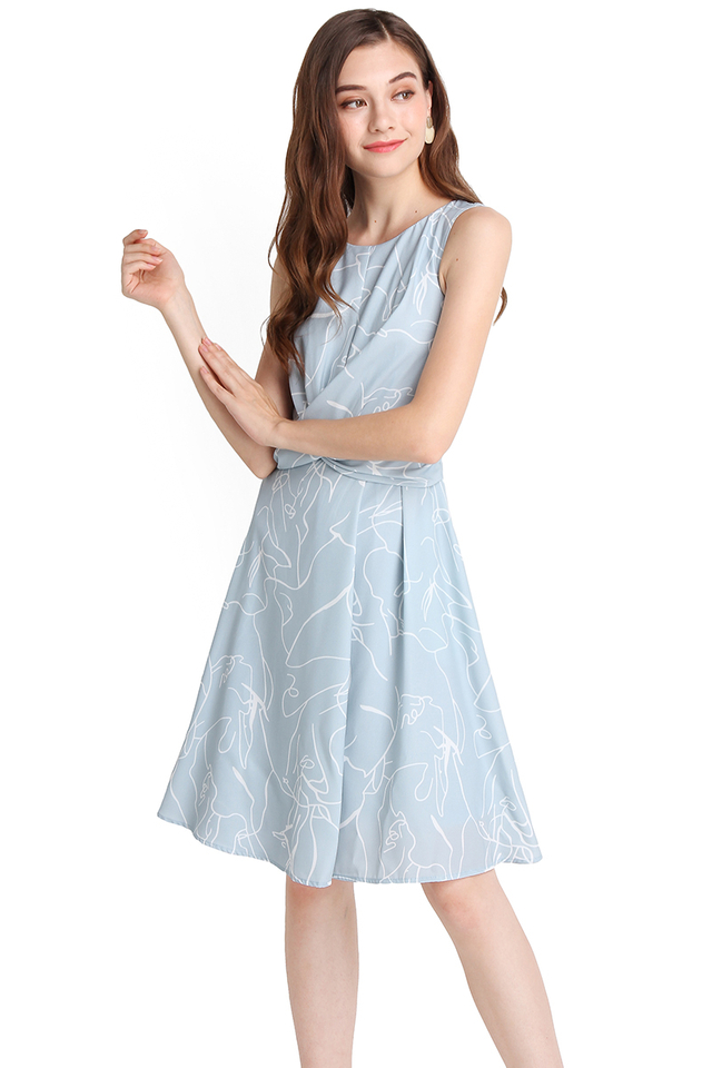 Walk A Thousand Miles Dress In Sky Prints