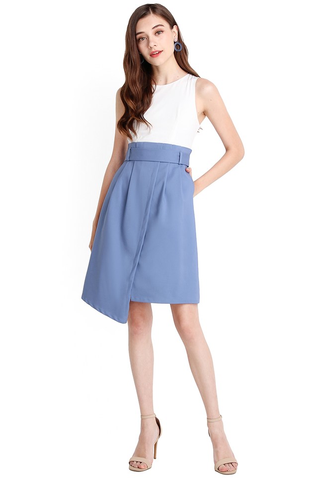In The Mood For Love Dress In White Blue