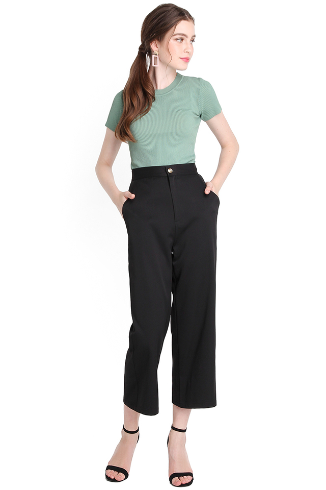 State Of Classiness Pants In Classic Black