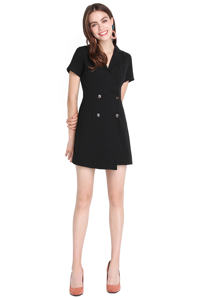 [BO] When In Rome Romper In Classic Black