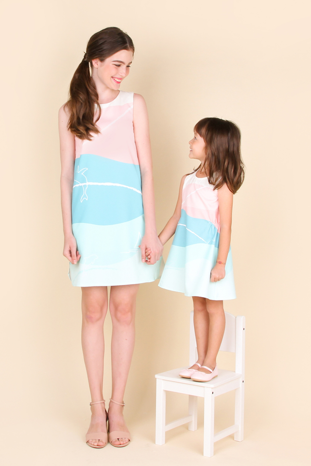 Nemo Song Dress in Sea Green