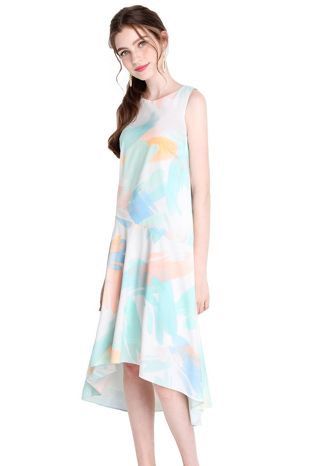 Numinous Experience Dress In Mint Pastel