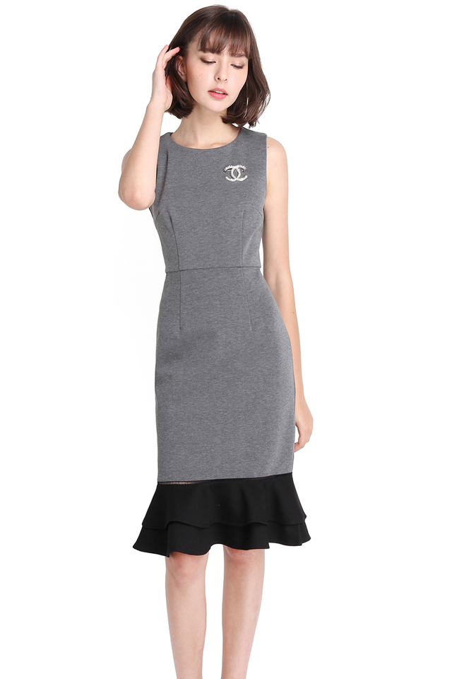 City Lights Dress In Heather Grey