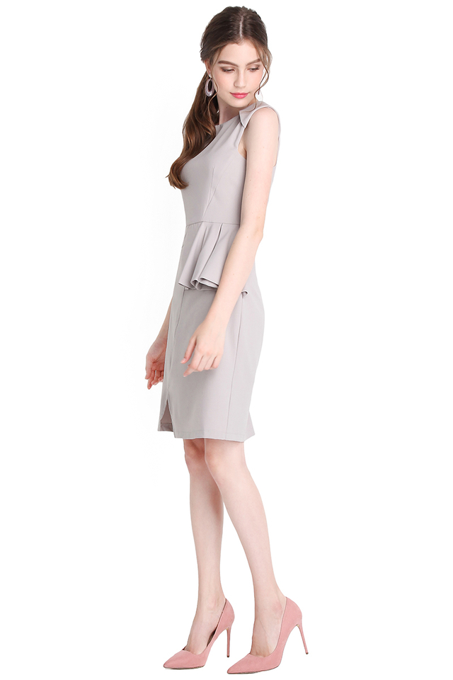 Call It A Classic Dress In Dove Grey