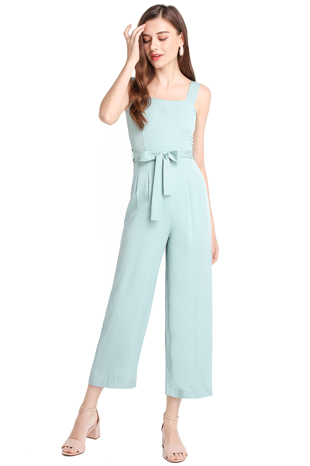 Refreshing Vibes Romper In Mint