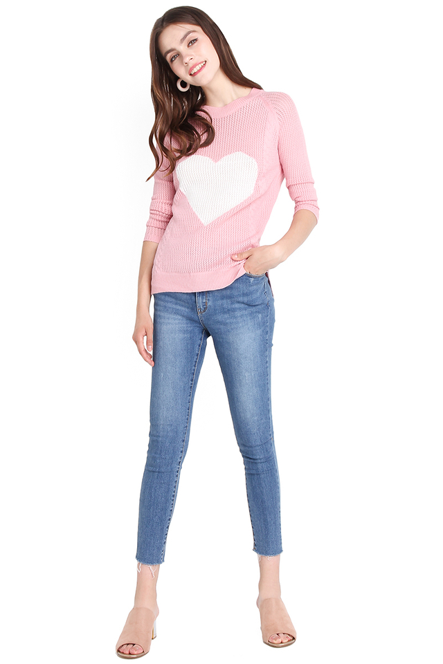 Love-A-Lot Pullover In Barbie Pink