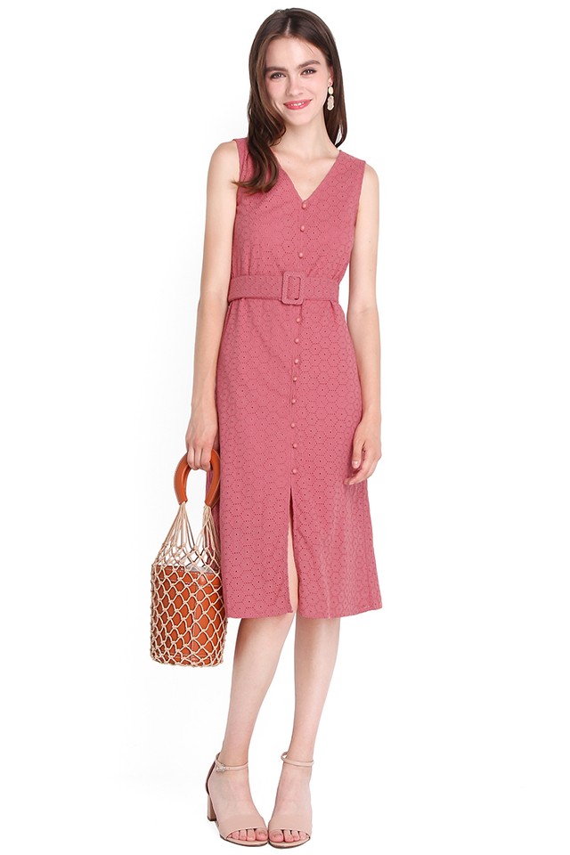 Encouraging Outlook Dress In Soft Rose