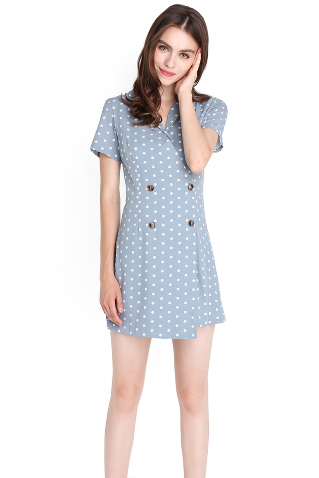 When In Rome Romper In Sky Dots